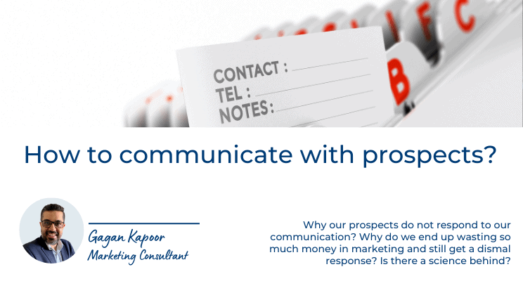 How to communicate with prospects?